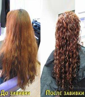кератиновая завивка волос фото до и после